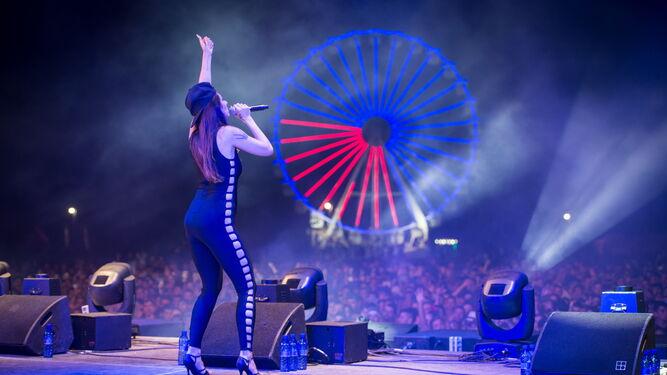 David Guetta llenó totalmente el escenario Brugal durante su concierto en Villaricos.