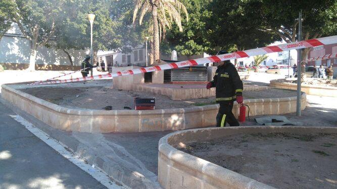 Foto de archivo de los bomberos actuando por la misma causa en la zona.