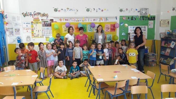 Visita de la delegada de Educación al colegio.
