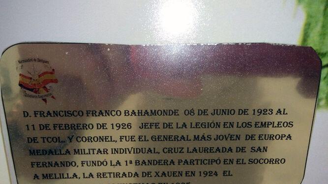 Piden la retirada del retrato de Franco en la exposición sobre la Legión de Diputación