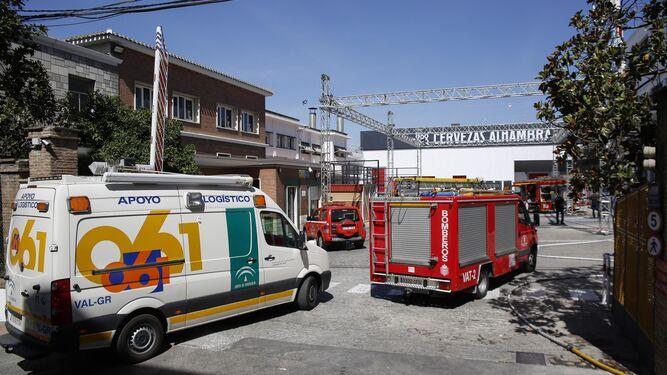 Alarma por una fuga de amoniaco en la fábrica de Cervezas Alhambra