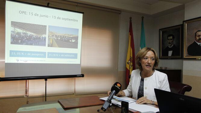 Carmen Ortiz, presidenta de la Autoridad Portuaria de Almería, realiza balance de la OPE.