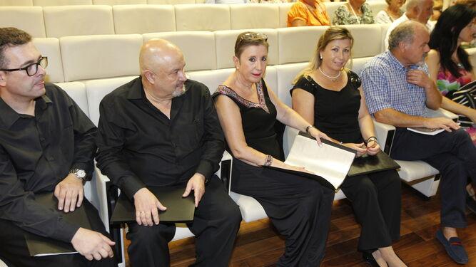 El cuarteto vocal 'Anacrusa' actuó entre poema y poema.