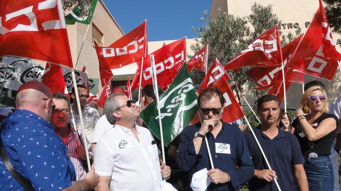 Manifestación realizada en El Acebuche esta semana.
