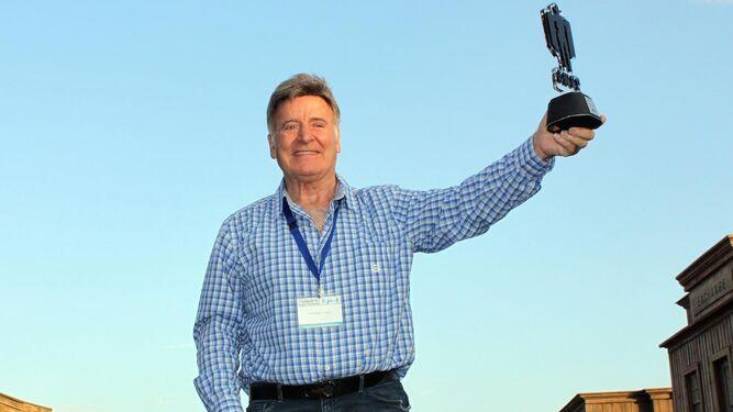 George Martin recogió en el Fort Bravo su premio 'Tabernas de cine'.