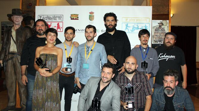 Imagen donde aparecen los premiados en esta edición del Festival.