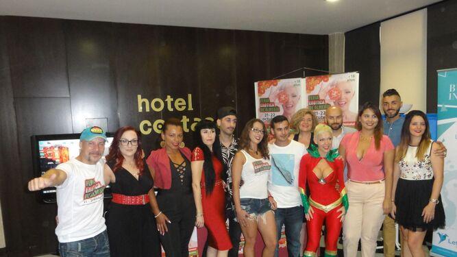Presentación de la Feria Erótica de Almería en el hotel Costasol de Almería.