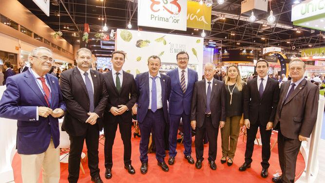 Representantes de la Diputación con autoridades del Ayuntamiento de Pulpi y el subdelegado del Gobierno en Almería, Andrés García Lorca.