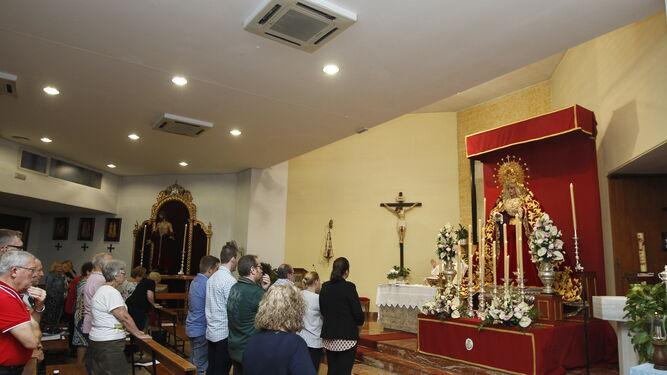 El jueves fue el primer día de Triduo en honor a la Virgen de Los Ángeles.