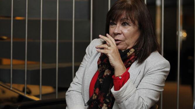 Cristina Narbona durante la entrevista concedida en el Hotel AC de la capital.