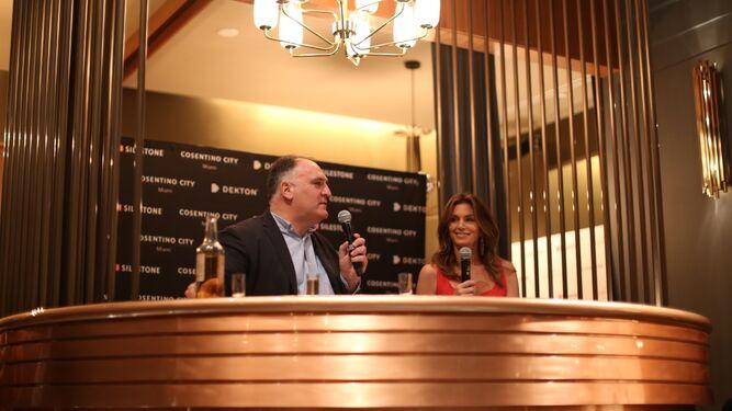 Cindy Crawford, José Andrés y Silestone