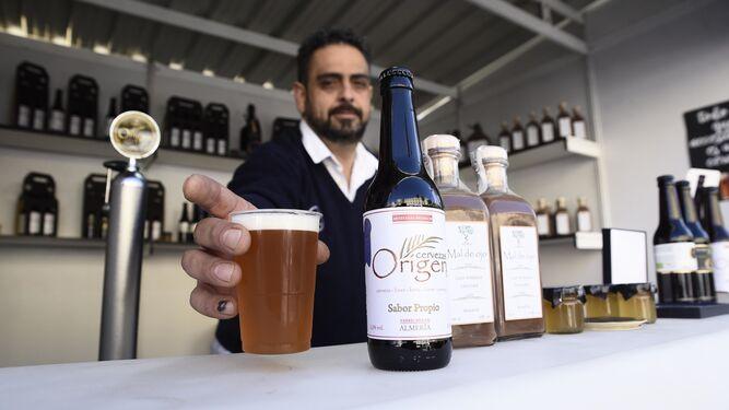 Expositor de Cervezas Origen en el Mirador de La Rambla.