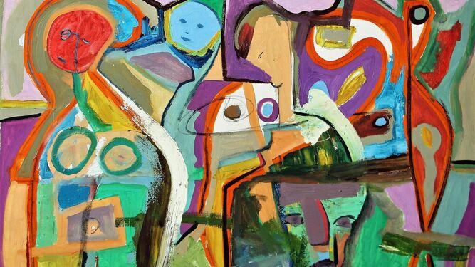 'El Mago', óleo sobre tablero que pintó Gadea en 1976.