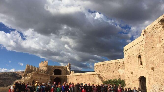 No faltó una visita a la Alcazaba.