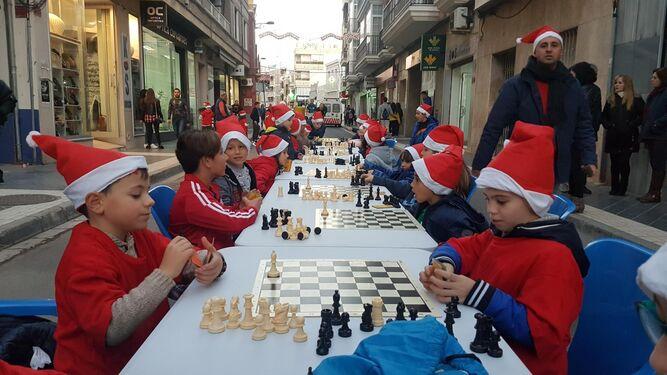 No faltó la estrategia con el ajedrez.