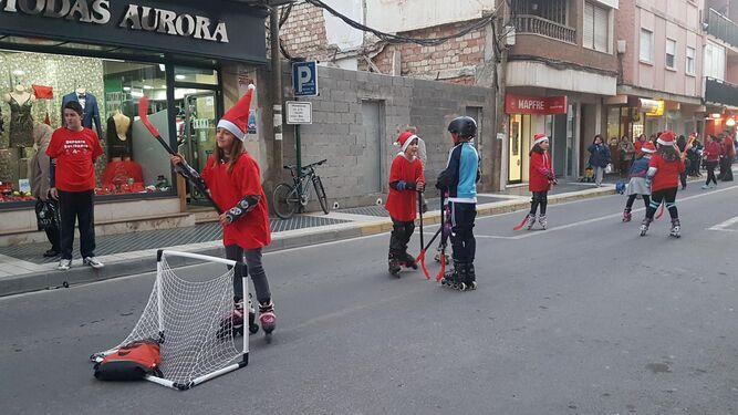 El hockey es uno de los deportes que se disfrutaron.