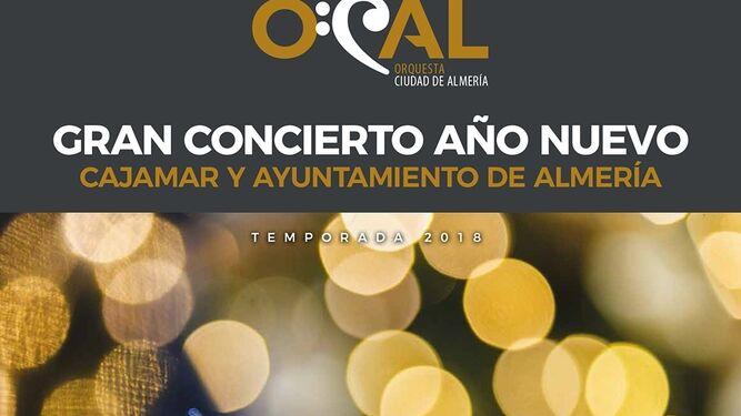 Cartel del concierto del miércoles.