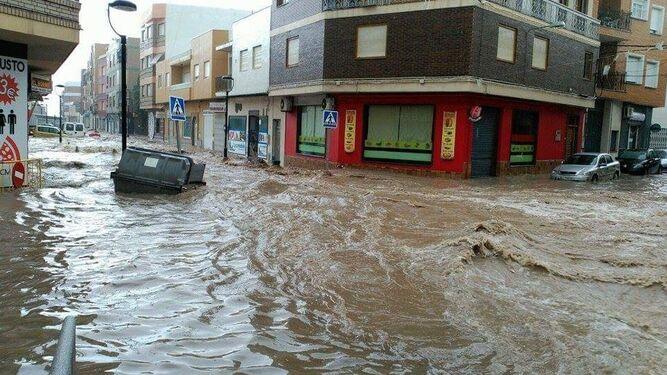 Las lluvias torrenciales provocaron grandes daños.