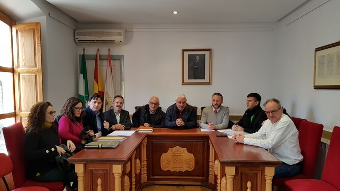 Reunión de la comisión de seguimiento del convenio de la reconstrucción del Patio del Castillo de Vélez Blanco.