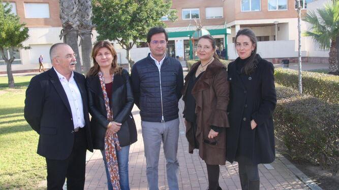 Antonio González, Rosalía Espinosa, Francisco Góngora, Carmen Crespo y Arancha Martín.
