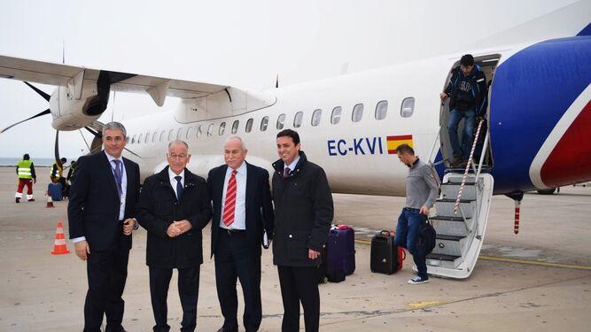 Steve Jeapy, dirigente de la compañía aérea premiada por el consistorio roquetero.
