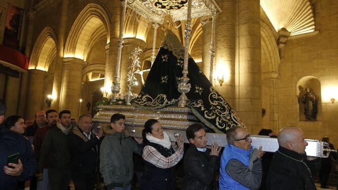 La Patrona de Almería llegó al Santuario a las 7 de la tarde.