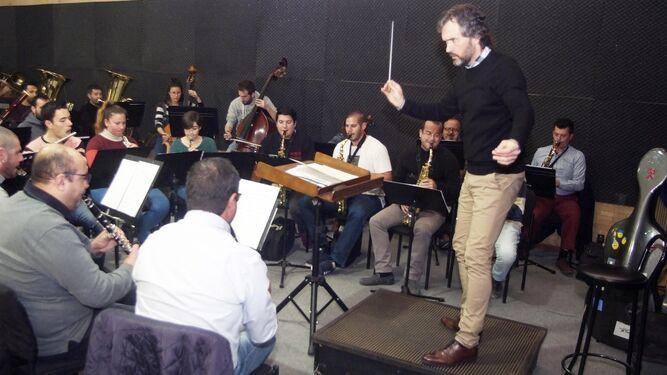 López Carreño durante un ensayo ayer en el Maestro Padilla.