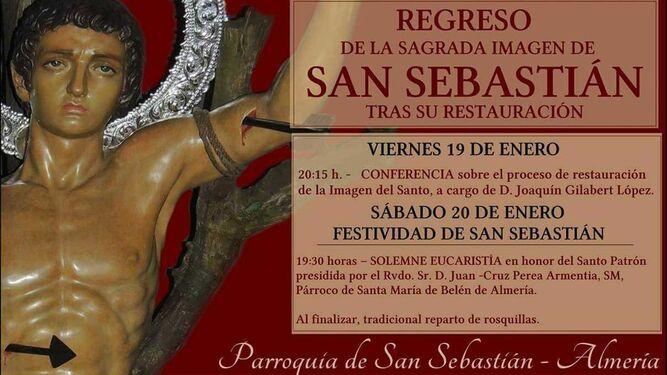 La imagen de San Sebastián se repone al culto tras su proceso de restauración