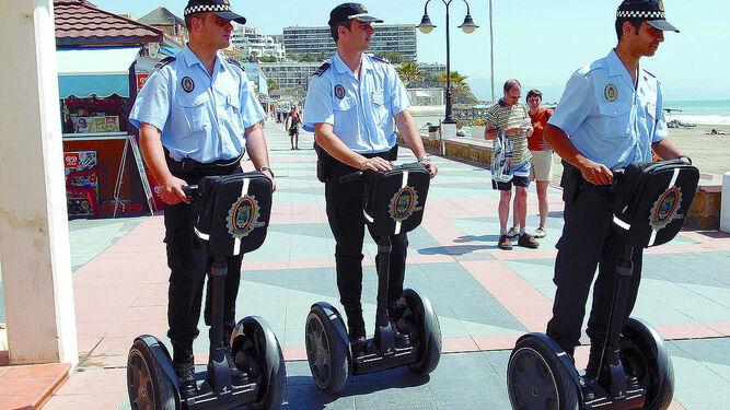 Policiaen patinete eléctrico