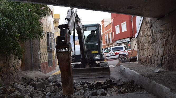 Las obras de acondicionamiento del paso subterraneo ya están en marcha.