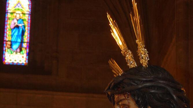 Imponente perfil de la imagen de Jesús Cautivo de Medinaceli.