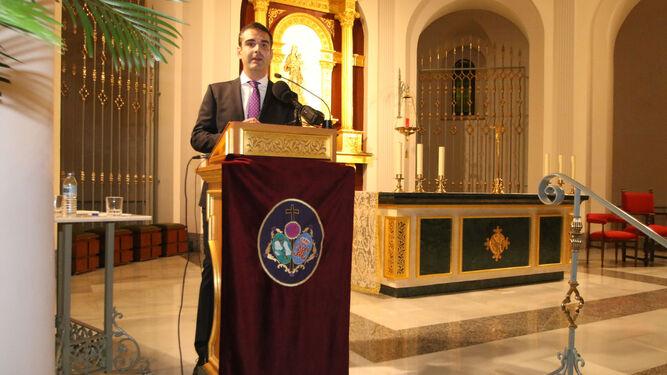 El alcalde, Ramón Fernández-Pacheco, pronuncia el pregón.
