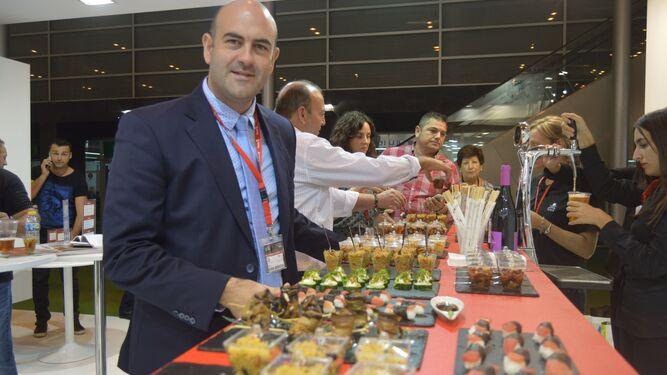 Jesús Barranco, director general de Alhóndiga  La  Unión, en la feria Fruit Attraction, en Madrid.