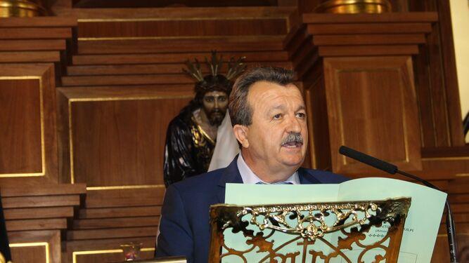 El alcalde durante su pregón.