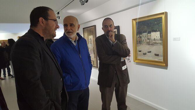 Andrés García Ibáñez estuvo presente en la apertura de las dos exposiciones en el Museo de Olula del Río.
