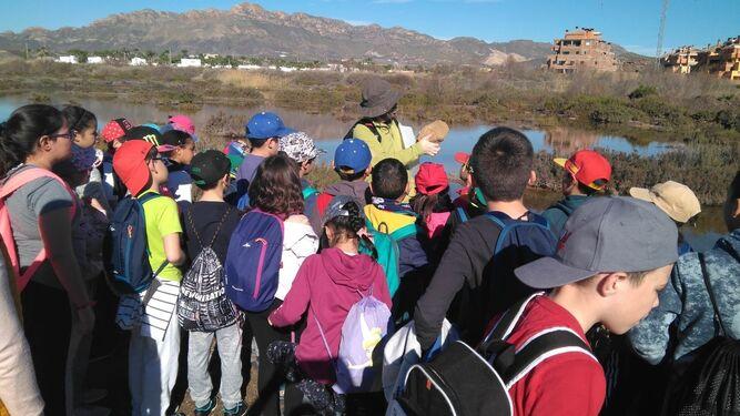 Los escolares han participado en una jornada medioambiental