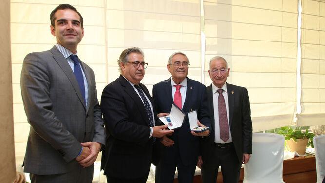 Alcalde de Almería, ministro, y presidente de la Diputación, con García Lorca.