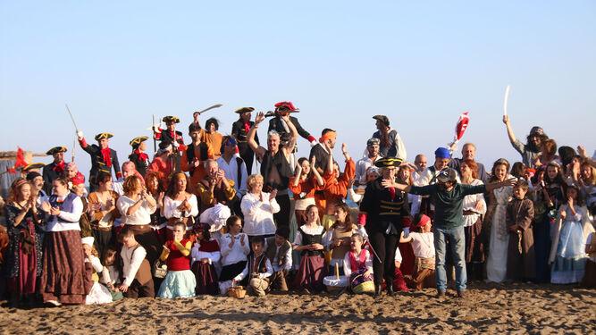 La recreación cuenta con la participación de 250 nijareños.