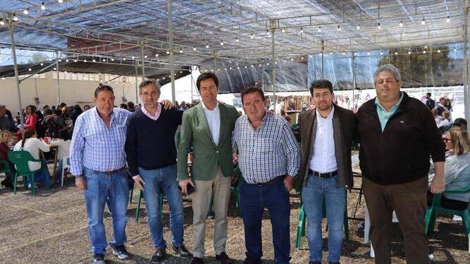 Autoridades municipales y de la Asociación 'La Fabriquilla'