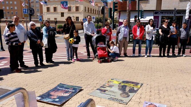 Protesta pacífica, pero reivindicativa ante la situación de muchos niños.