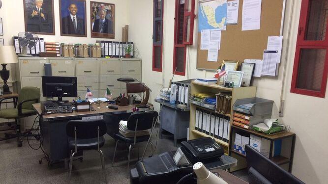 Uno de los despachos del IES Galileo que se convierte en la embajada americana en México.