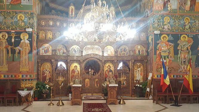 Altar de la nueva iglesia ortodoxa.