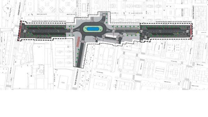 1,7 millones harán de Santiago una avenida amable con rotonda alargada