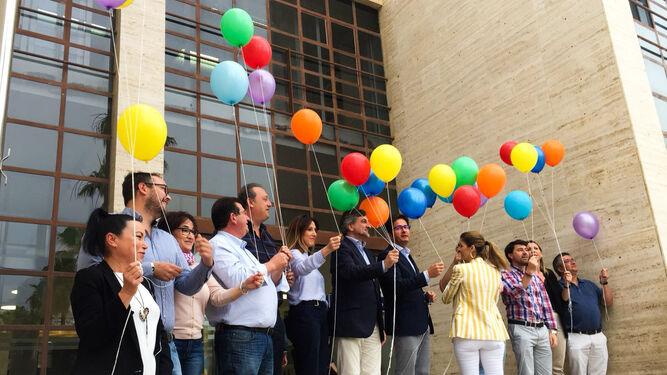 El Ayuntamiento de El Ejido se sumó a los actos reivindicativos.