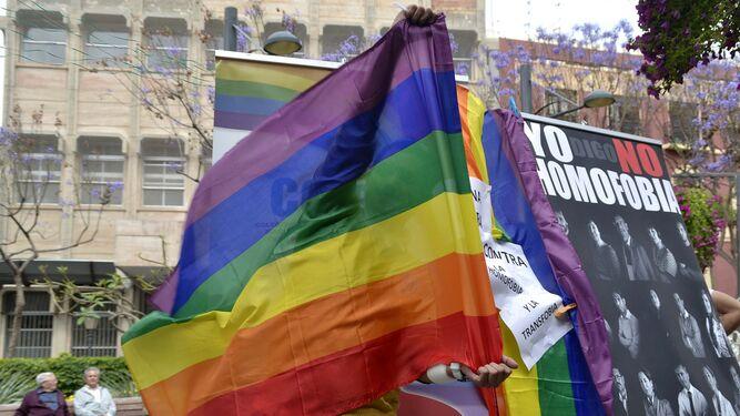 Banderas LGBTI del colectivo.