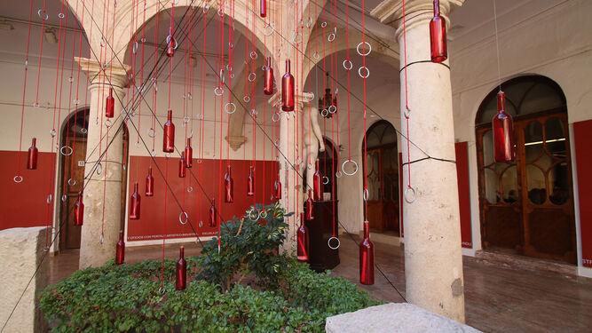 Instalación en la Escuela de Arte de Almería.