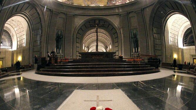 Interior de la basílica del Valle de los Caídos.