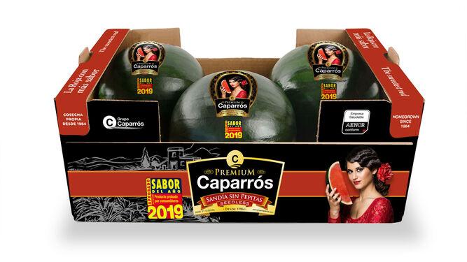Imagen de la sandía Premium de Caparrós Nature.