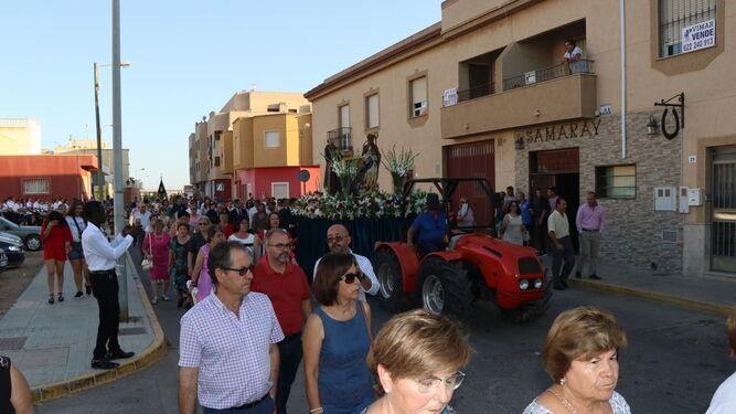 Imagen de la procesión de las fiestas de Las Norias del pasado año.