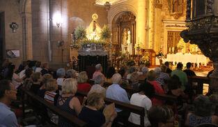 Fotogalería de la retirada de la Virgen del Mar para su restauración